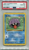Pokemon Card 3rd Print Shellder 1999-2000 Fossil Set 54/62, PSA 10 Gem Mint