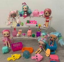 Shopkins Shoppies Doll lot furniture teapots food Shopping Cart Luggage