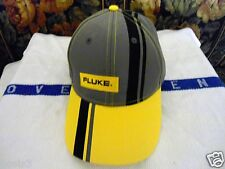 ELECTRICIAN LINEMAN KLEIN TOOLS FLUKE STRIPED SPORT HAT WITH EMBROIDERED LOGO