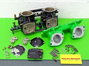 Kawasaki SXR 800 sxr800 Stock dual Carbs Carburetors carb intake manifold PARTS