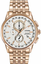 CITIZEN MEN'S WORLD CHRONOGRAPH A-T ECO-DRIVE WATCH AT8110-53E - NEW - FAST SHIP
