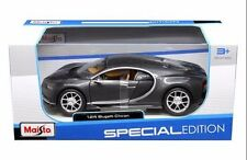 MAISTO 1:24 SPECIAL EDITION BUGATTI CHIRON DIECAST CAR GREY 31514GRY