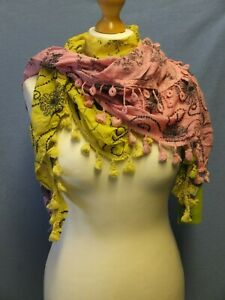 NEW FABULOUS Ladies Cotton Dress Scarves/Wraps by LETTUCE OF LONDON  Ideal Gifts