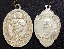 ITALY 1909 ANTIQUE LOT X2 ST. JACOB & FRANCESCO DA CAMPOROSSO CAPUCCINI GENOVA
