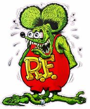 "Rat Fink Version 2 Large Decal 18"" x 11"" Free Shipping"