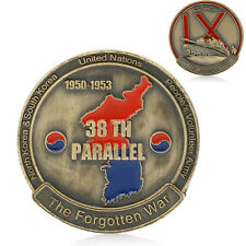 The Korean War 38th Parallel IX Corps 1950-1953 Gold Plated Commemorative Coins