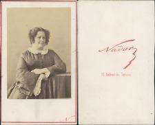 Nadar, Paris, Alphonsine Vintage CDV albumen carte de visite CDV, tirage album
