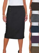 ICE Below Knee Lined Pencil Skirt Washable Office Day 10-20