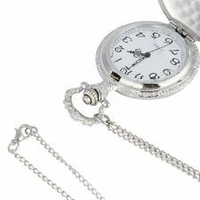Retro Car Truck Pattern Silver Men Women Gifts Pocket Watch Pendant Necklace