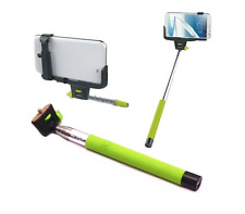Monopod WIRELESS Extendable Selfie Stick Holder for iPhone and Samsung - Green