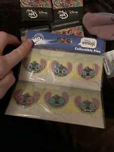 Set Of Stitch Pins From Orlando Disney Parks