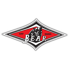 BEAR SURF BOARDS STICKER surf hotrod split bug external sticker 150x73mm
