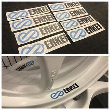 8 PCS Enkei Wheel Decals RP01 RPF1 Tarmacs EVO NT01 RC-G4 JDM