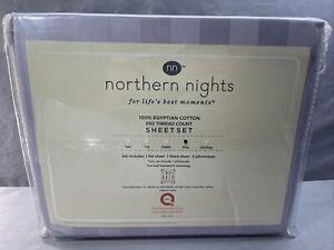 Northern Nights 650TC Egyptian Cotton Sheet Set King Lilac Stripe