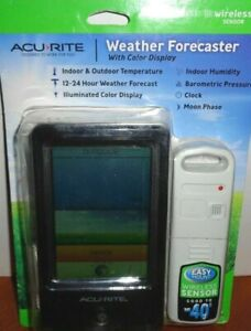 AcuRite Wireless Weather Station Forecaster Indoor/Outdoor Temperature Color *