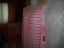 Sleeveless Blouses Sonoma size 3X,2X,1X Pink Striped and Pink & other NWT