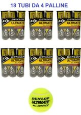 18 TUBI DA 4 PALLINE TENNIS DUNLOP ULTIMATE ALL SURFACE PER TUTTE LE SUPERFICI
