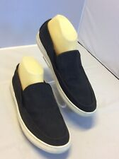 1901 Perforated Leather Upper Navy Blue Fashion Loafers Slip On  Men Size 41 EU