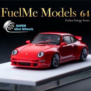 """FuelMe 1/64 Porsche Gunther Werks 911 (993) """"Solan Red"""" (Red)"""