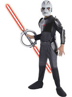 Child Star Wars Rebels The Inquisitor Deluxe Outfit Fancy Dress Costume & Mask
