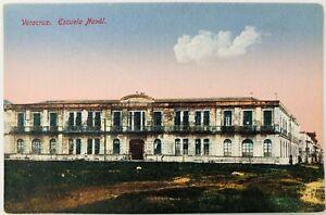 Vintage Veracruz Mexico Escuela Naval Militar Postcard Navy Military School