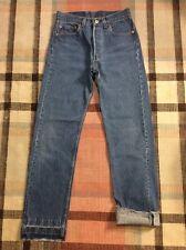 Vintage Levi's 501 Button Fly Denim Blue Jeans Boyfriend Cropped 28X31 USA!!!