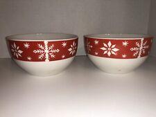 Matching Snowflake Bowls