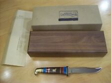 """VINTAGE LIMITED EDITION BUCK KNIFE 102 Coyote By """"David Yellowhorse"""" 1989"""