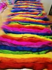 felting wool rainbow 2 oz or 57g felt wool, rainbow wool, needle felt wool tops