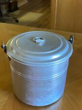 "Vintage Buckeye 20 Gauge 4 Quart Aluminum ""Real Solid"" Lunch Pail Wooster, Ohio"