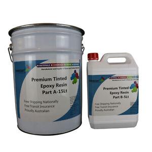 Premium Tinted EPOXY 2Pk Easy DIY Coating Kit In&Outdoor Concrete Tile Timber