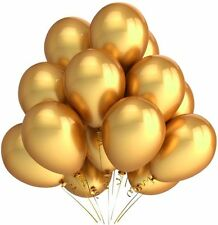 40 Metallic Gold Helium Quality Balloons/Party Decorations/Party Supplies
