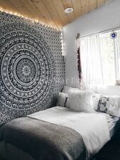 Ethnic Mandala Wall Hanging Indian Hippie Tapestries Twin Cotton Throw Bedspread