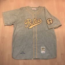 Phila Phillies 1938 Chuck Klein Mitchell & Ness Gray Authentic Throwback Jersey