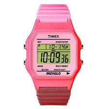 Timex Orologio Watch T2N209 Rosa Gomma Multifunzione T80 Classic Pink Digitale