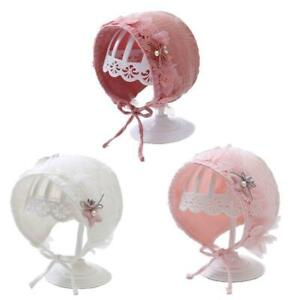 Lace Newborn Cotton Kids Hat Baby Princess Cap Infant Baby Bonnet Summer Sun Hat