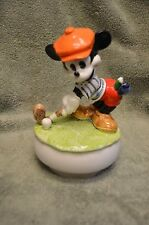 Mickey Mouse golfer Spinning Music Box by Schmid