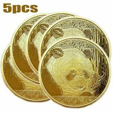 Hot 2018 Gold Plated Panda Baby Commemorative Challenge Coin Collectible Gift