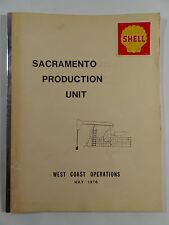 Rare 1978 SHELL OIL & GAS Sacramento Production Unit WEST COAST OPERATIONS Map