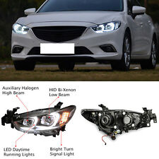 Xenon Headlight LED DRL Lens for Mazda 6 2014-2017 North American version