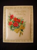 Vintage Large Pillow Insert Greeting Card Mother's Day to Wife, Unsigned, Boxed
