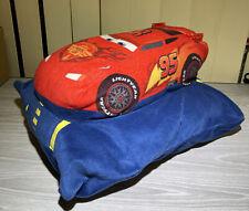 "DISNEY PIXAR CARS - 13"" LIGHTNING MCQUEEN Soft Plush Stuffed Pillow Toy 13""X11"