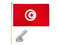New listing 5' Wooden Flag Pole Kit W/ Nylon White Bracket 3x5 Tunisia Country Poly Flag