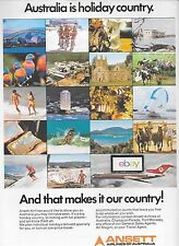 ANSETT AIRLINES OF AUSTRALIA B727-200 AUSTRALIA IS HOLIDAY COUNTRY AD