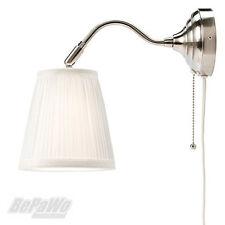IKEA ARSTID Wandleuchte Vernickelt Weiß Lampe Wandlampe Schirmlampe NEU U0026  OVP