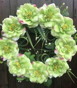 ARTIFICIAL SUMMER FLOWER DOOR WREATH