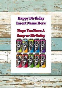 Dragon Soop Personalised Birthday Card