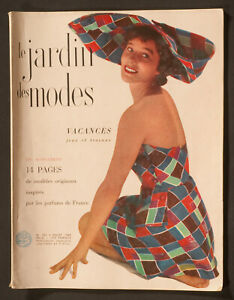 'LE JARDIN DES MODES' FRENCH VINTAGE MAGAZINE HOLIDAY ISSUE JULY 1949