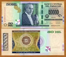 Paraguay, 50,000 (50000) Guaranies 2015 Pick New Redesigned UNC