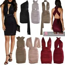 Polyester Wrap Dresses for Women with Ruched